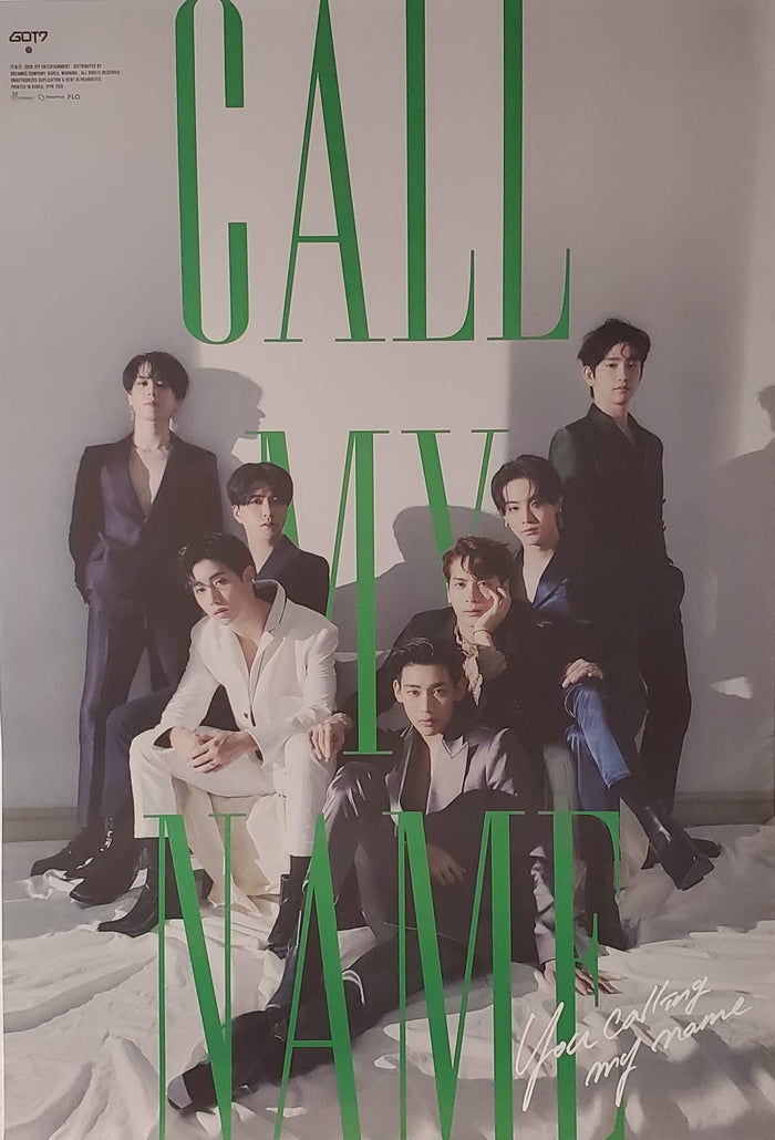 Got7 10th Mini Album Call My Name Official Poster - Photo Concept 1