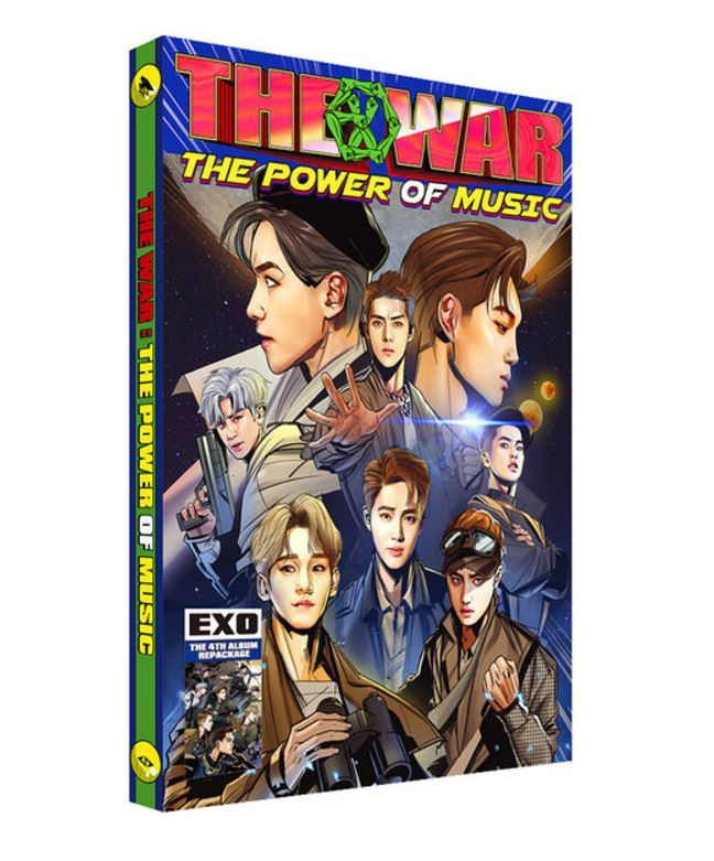 엑소EXO 4TH ALBUM REPACKAGE - THE WAR (THE POWER OF MUSIC) (KOREAN VERSION)