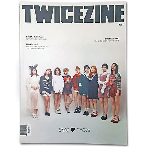 트와이스 TWICE - TWICEZINE VOL. 1 MAGAZINE (LIMITED EDITION)