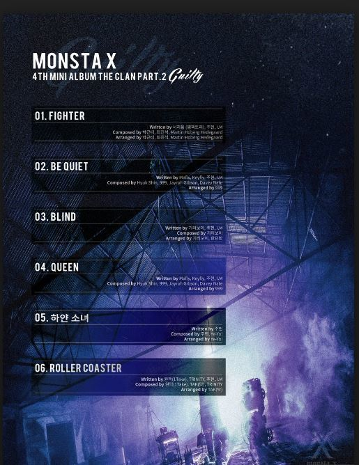몬스타엑스 MONSTA X - 4TH MINI  ALBUM  ['THE CLAN 2.5 PART.2 GUILTY]