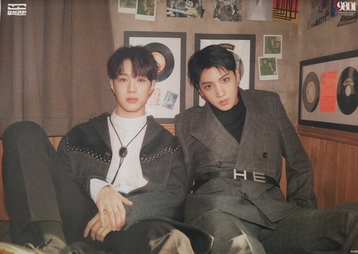 Wooseok x Kuanlin 1st Mini Album 9801 Official Poster - Photo Concept Group 1