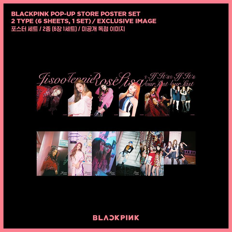 블랙핑크 BLACKPINK  POP-UP STORE POSTER SET (Version 2)