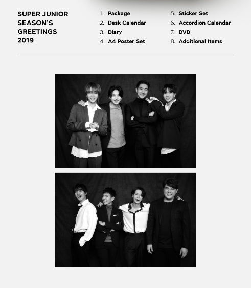 [LIMITED STOCK] SUPER JUNIOR 2019 SEASON'S GREETINGS