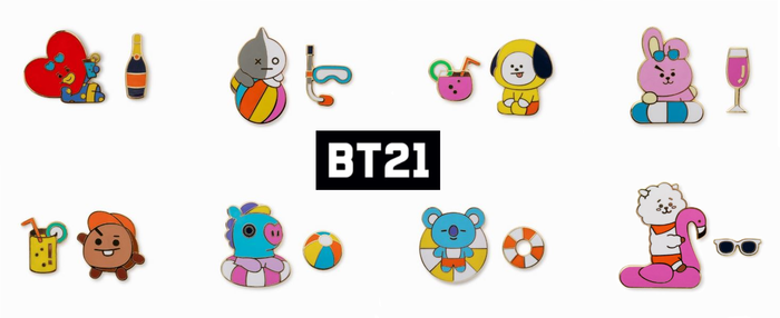BT21 OFFICIAL GOODS -  - Bon Voyage Badge Set