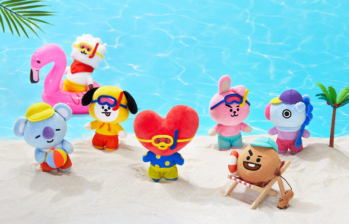 BT21 OFFICIAL GOODS -  Bon Voyage Standing Dolls
