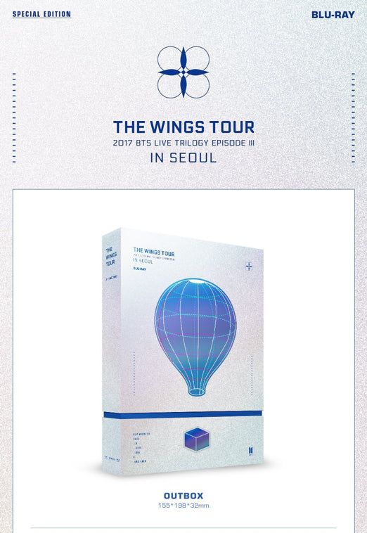 2017 BTS Live Trilogy EPISODE III THE WINGS TOUR in Seoul CONCERT (Blu-Ray)
