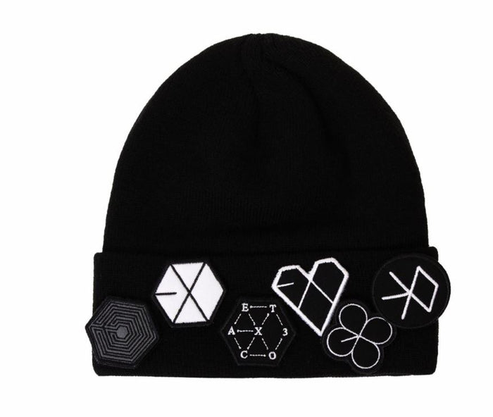 EXO SM Official Beanie with Album Logos Embroidered