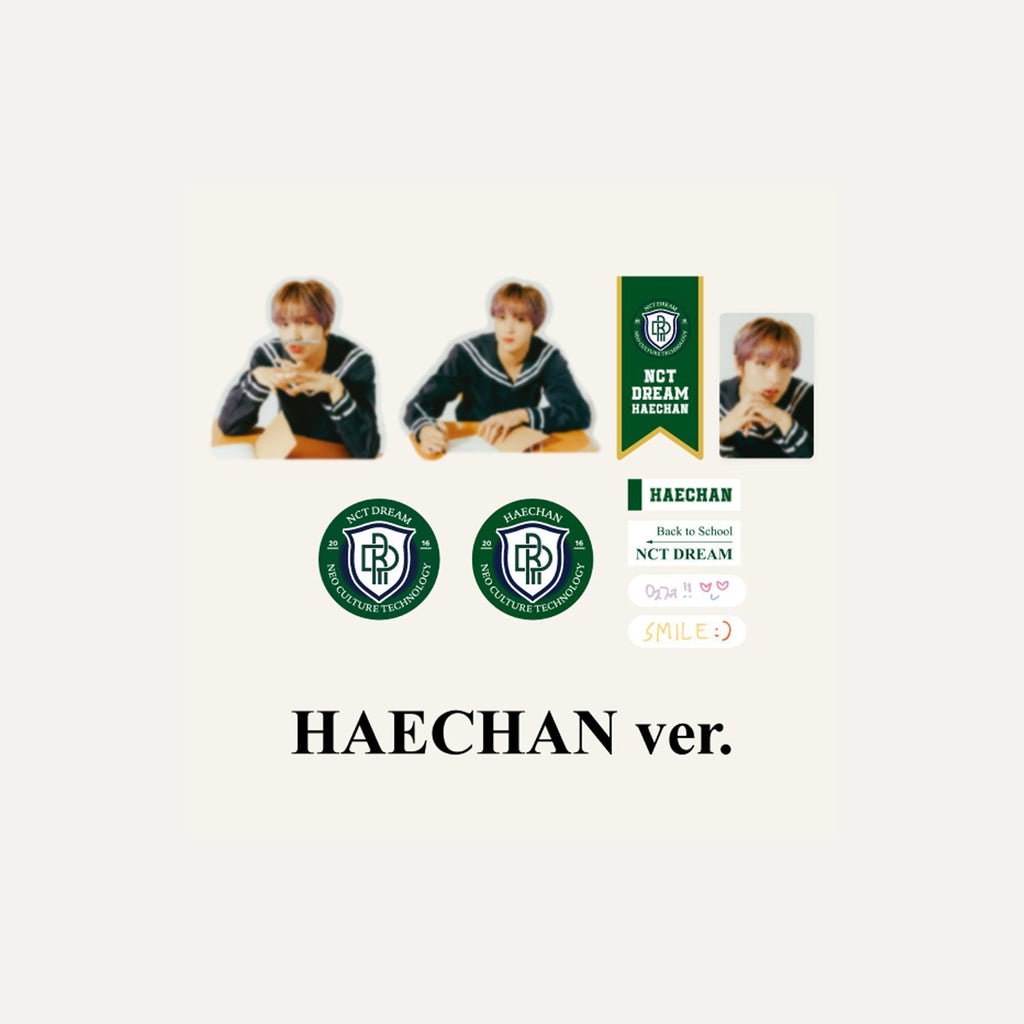 [Pre-Order] NCT DREAM 2021 BACK TO SCHOOL KIT - LUGGAGE STICKER + PHOTOCARD SET