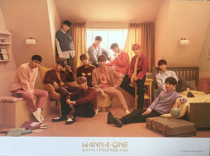 워너원 WANNA ONE 2ND MINI ALBUM [I PROMISE YOU] OFFICIAL POSTER (VER. A)