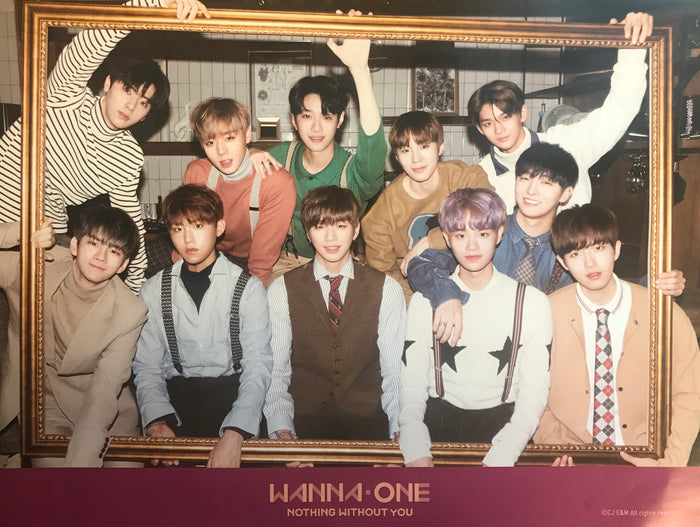 워너원 WANNA ONE 1ST MINI ALBUM REPACKAGE [NOTHING WITHOUT YOU] OFFICIAL POSTER (VER. A)