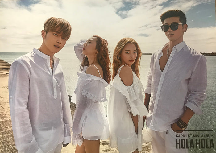 카드 KARD 1ST MINI ALBUM [HOLA HOLA] OFFICIAL POSTER