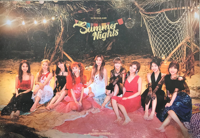 트와이스 TWICE 2ND SPECIAL ALBUM [SUMMER NIGHTS] OFFICIAL POSTER - PHOTO CONCEPT 2