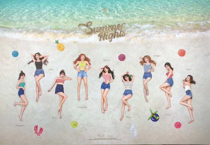 트와이스 TWICE 2ND SPECIAL ALBUM [SUMMER NIGHTS] OFFICIAL POSTER - PHOTO CONCEPT 3