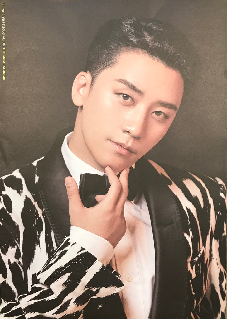 승리 SEUNGRI 1ST ALBUM [THE GREAT SEUNGRI] OFFICIAL POSTER (TWO-SIDED)