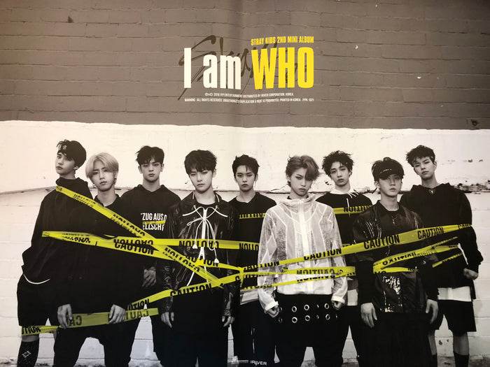 STRAY KIDS 2ND MINI ALBUM [I AM WHO] OFFICIAL POSTER - PHOTO CONCEPT 1