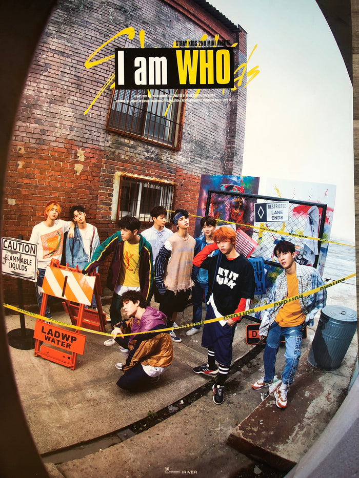 STRAY KIDS 2ND MINI ALBUM [I AM WHO] OFFICIAL POSTER - PHOTO CONCEPT 2