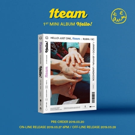 [Pre-Order] 원팀 (1TEAM) 1ST MINI ALBUM- HELLO!