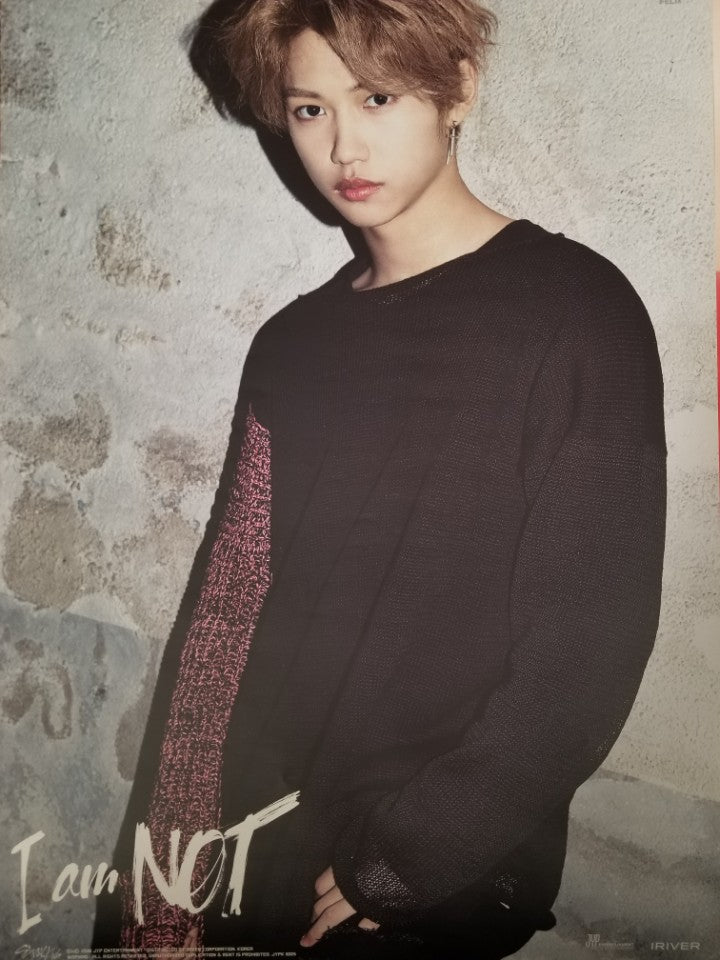 STRAY KIDS 1ST MINI ALBUM [I AM NOT] LIMITED EDITION MEMBER POSTER - FELIX