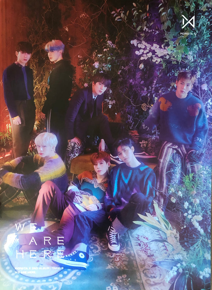MONSTA X 2ND ALBUM [TAKE.2 WE ARE HERE] OFFICIAL POSTER - PHOTO CONCEPT 1