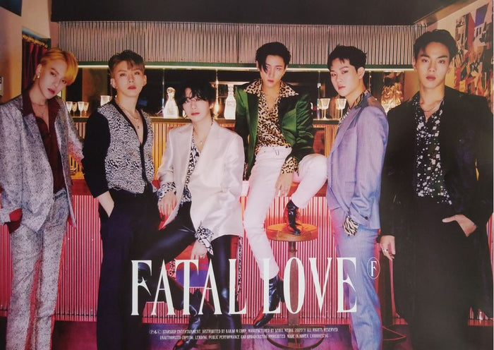 MONSTA X 3rd Album FATAL LOVE Official Poster - Photo Concept 2