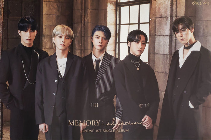 ONEWE 1st Single Album MEMORY : illusion Official Poster - Photo Concept 2