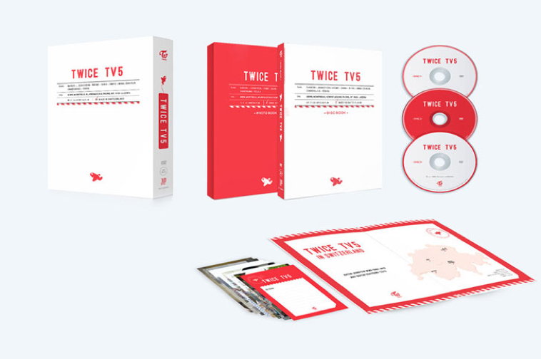 트와이스 TWICE - TWICE TV5 DVD / TWICE IN SWITZERLAND DVD (3DISCS)