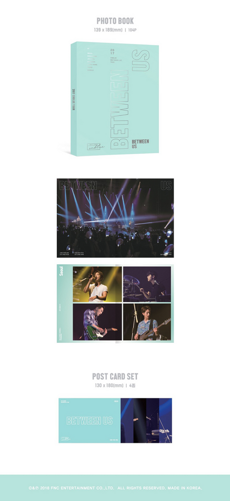 씨엔블루 CNBLUE - 2017 CNBLUE BETWEEN US TOUR DVD