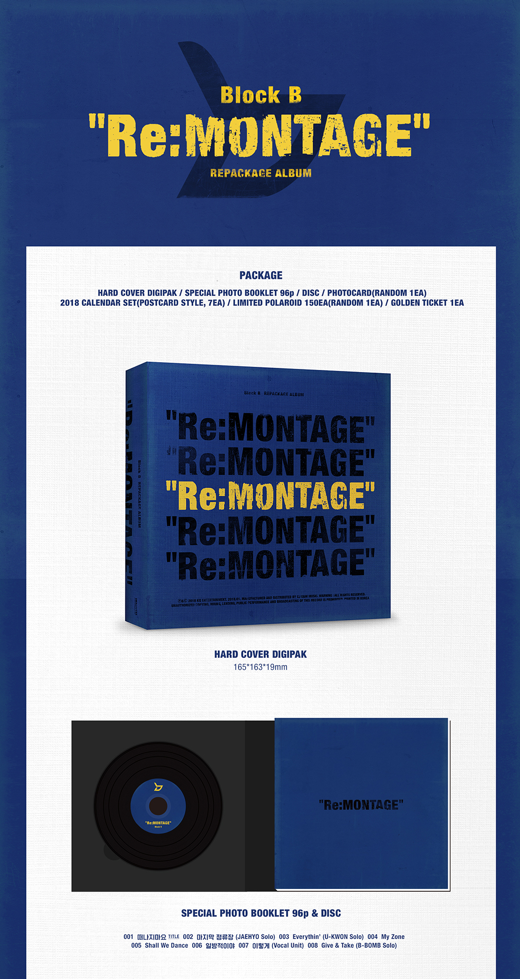 블락비 BLOCK B 6th Mini Album Repackaged [RE:MONTAGE]