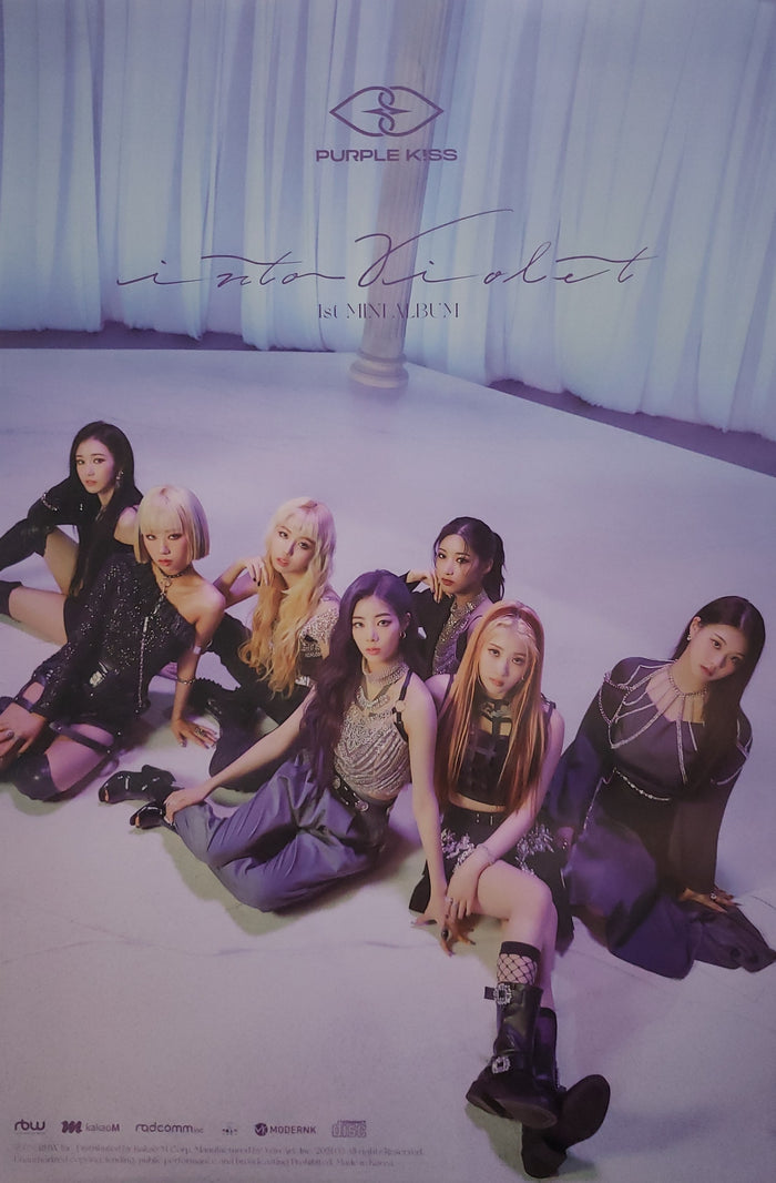 PURPLE KISS 1st Mini Album Into Violet Official Poster - Photo Concept 3