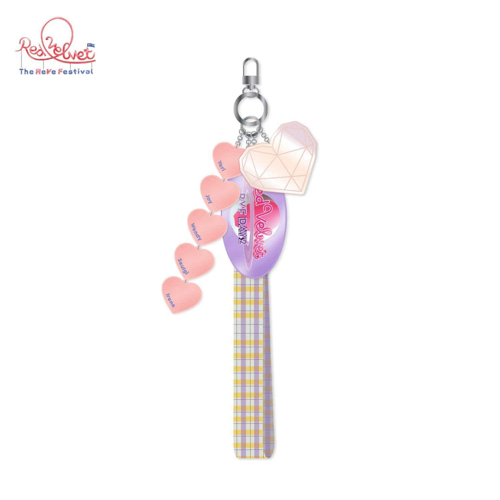 Red Velvet Day 2 Long Strap with Charm Keychain with Photo Tag
