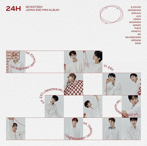 [JAPAN IMPORT] SEVENTEEN - 24H (REGULAR VER)