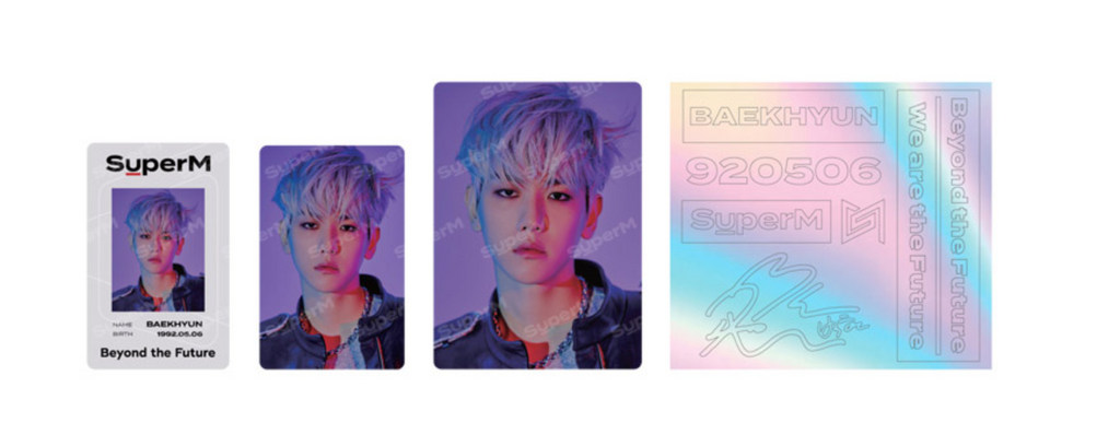 SuperM Beyond LIVE Goods - ID Card + Light Stick Deco Sticker Set