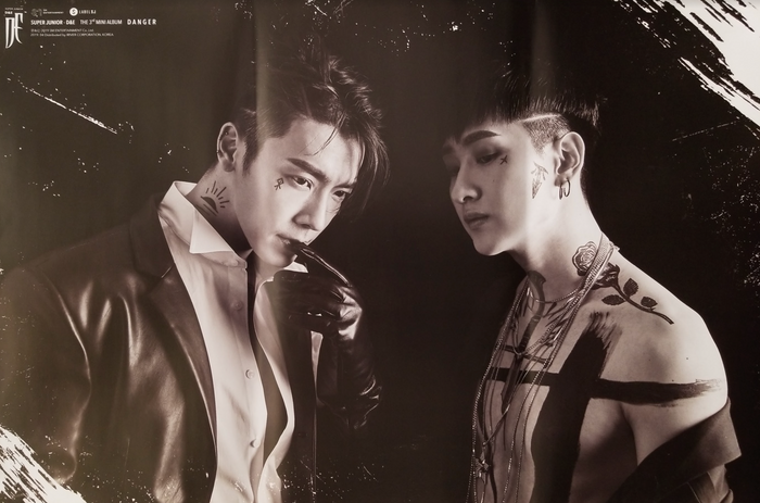 Super Junior D&E 3rd Mini Album Danger Official Poster - Photo Concept A