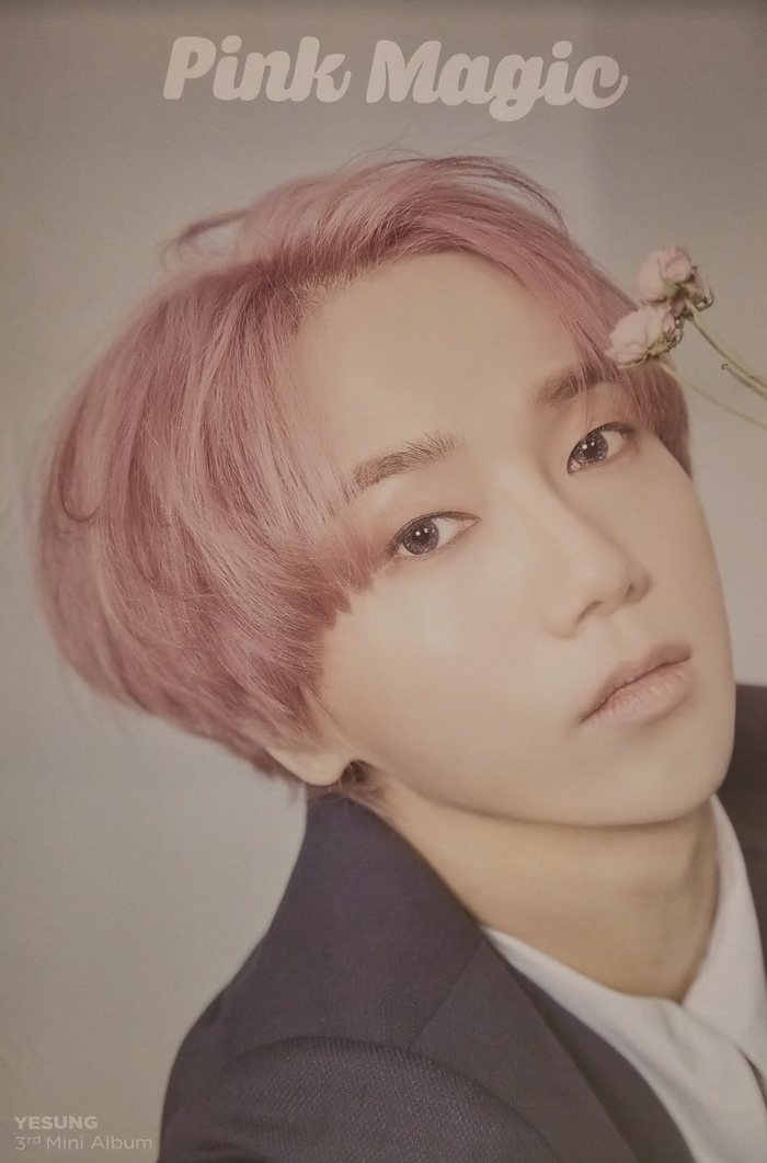 Yesung 3rd Mini Album Pink Magic Official Poster - Photo Concept 3