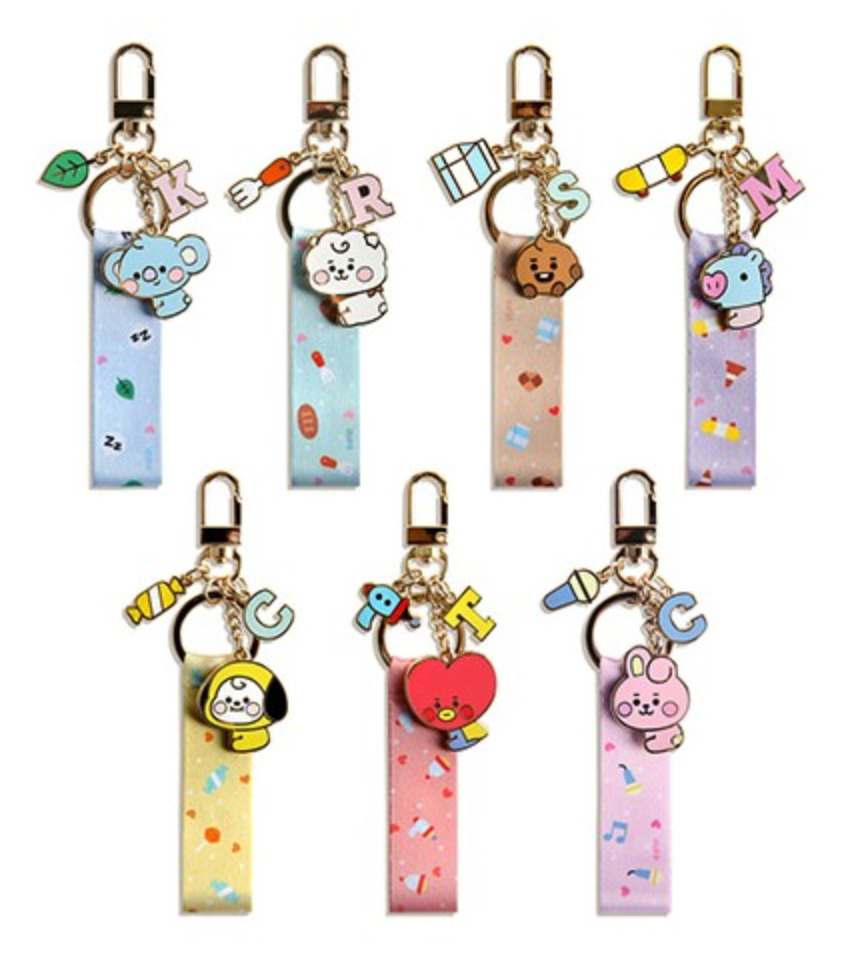 BT21 x Monopoly Official Merchandise - Baby Strap Metal Keyring