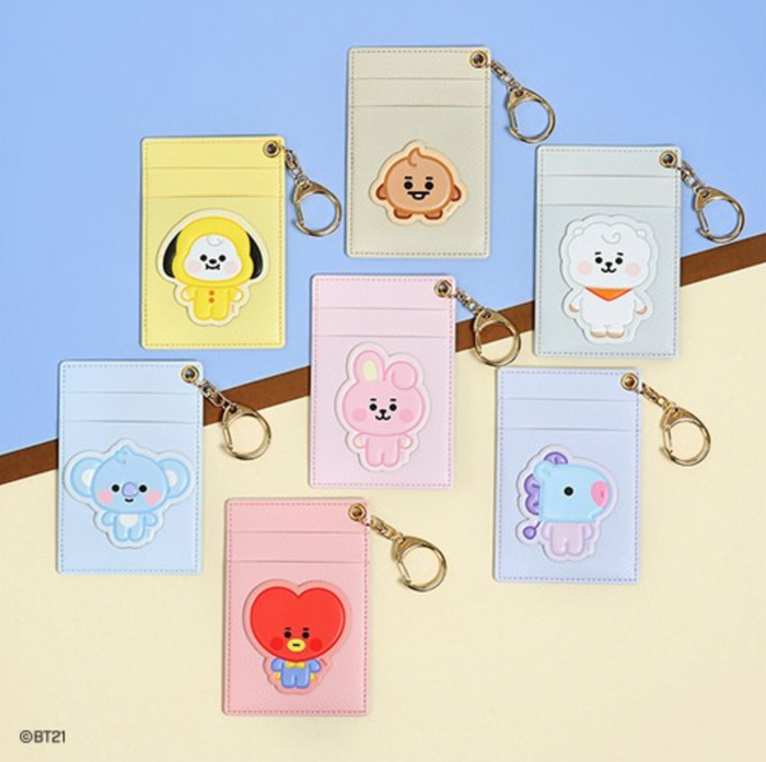 [Pre-Order] BT21 x Monopoly Official Merchandise - Baby Leather Patch Card Holder