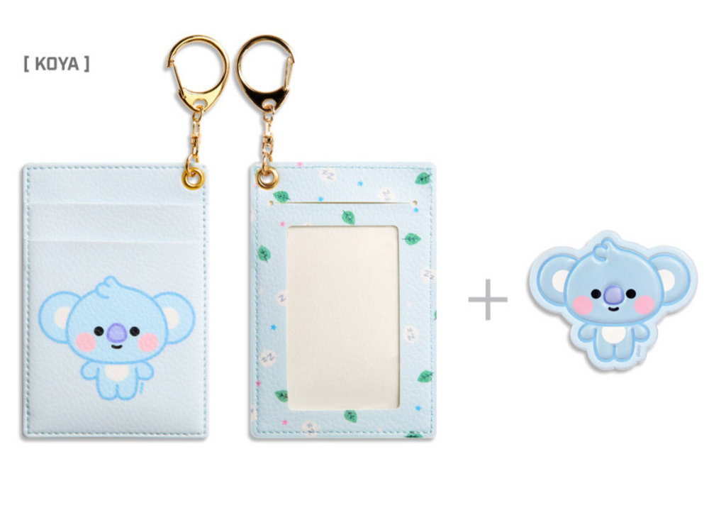 BT21 x Monopoly Official Merchandise - Baby Leather Patch Card Holder