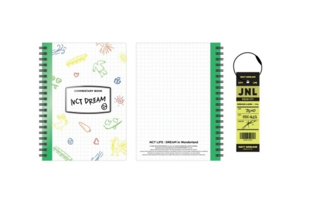 [Pre-Order] NCT DREAM Dream In Wonderland Official Merchandise- Commentary Book + Luggage Tag Set