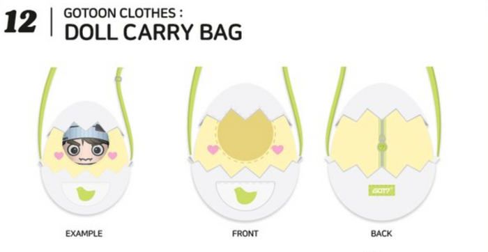 [Pre-Order] GOT7 2020 Summer Store Official Merchandise - Doll Carry Case