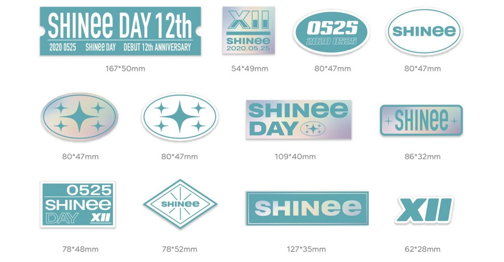 SHINee Debut 12th Anniversary Official Merchandise - Luggage Sticker Set
