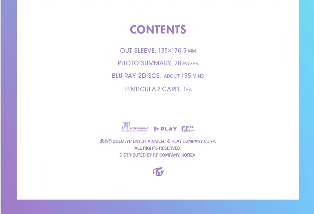 트와이스 TWICE 1ST TOUR [ENCORE] TWICELAND -THE OPENING BLU-RAY