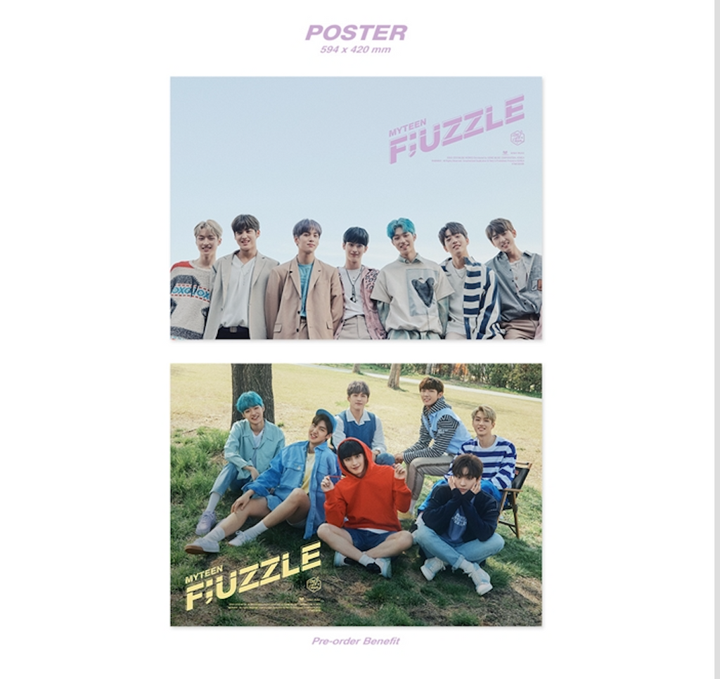 MYTEEN 2ND MINI ALBUM - FUZZLE CD