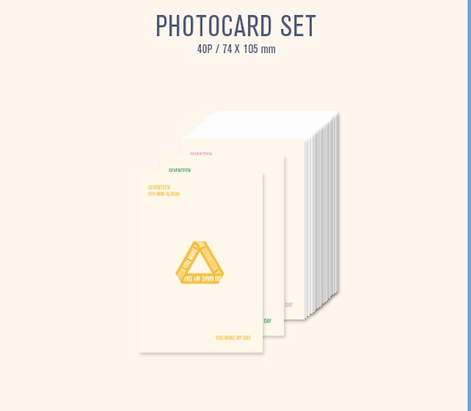 SEVENTEEN 5TH MINI KIHNO ALBUM - YOU MAKE MY DAY(SET THE SUN VER)
