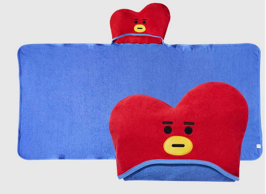 (Limited Quantity) BT21 Official Merchandise - HOODIE TOWEL