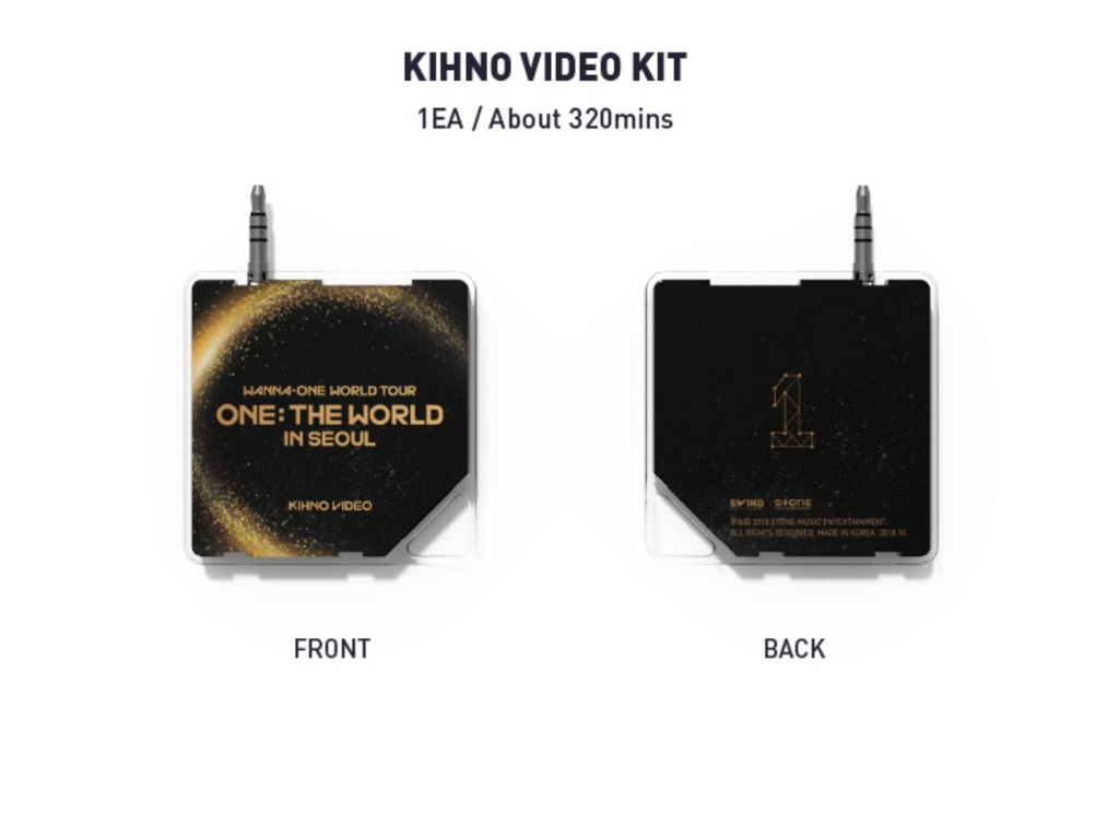 (KIHNO) WANNA ONE WORLD TOUR ONE: THE WORLD IN SEOUL KIHNO EDITION