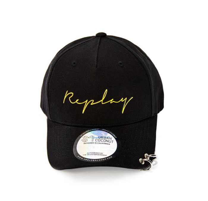 SUPER JUNIOR SM OFFICIAL REPLAY DAD HAT WITH LONG STRAP AND RINGS
