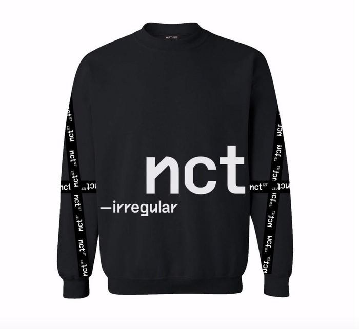 NCT 127 IRREGULAR BANDED BLACK SWEATSHIRT