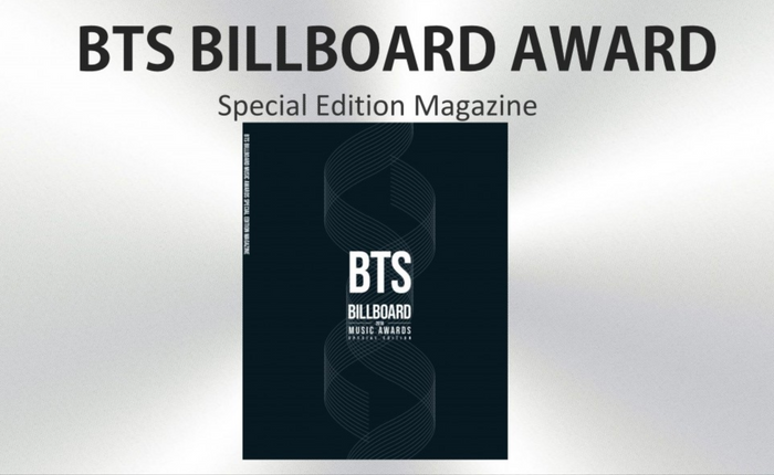 BTS BILLBOARD AWARD SPECIAL EDITION MAGAZINE + T-SHIRT