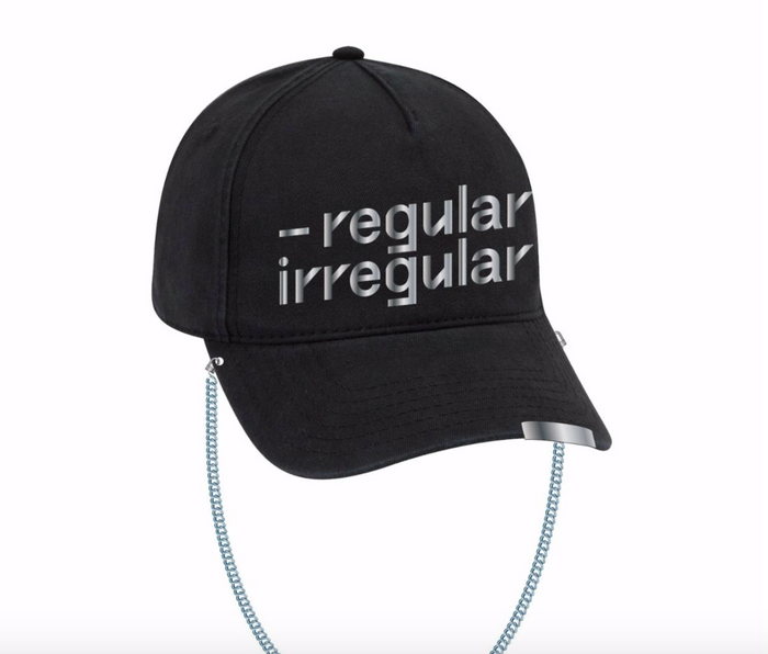NCT 127 REGULAR-IRREGULAR BLACK DAD HAT WITH CHAIN