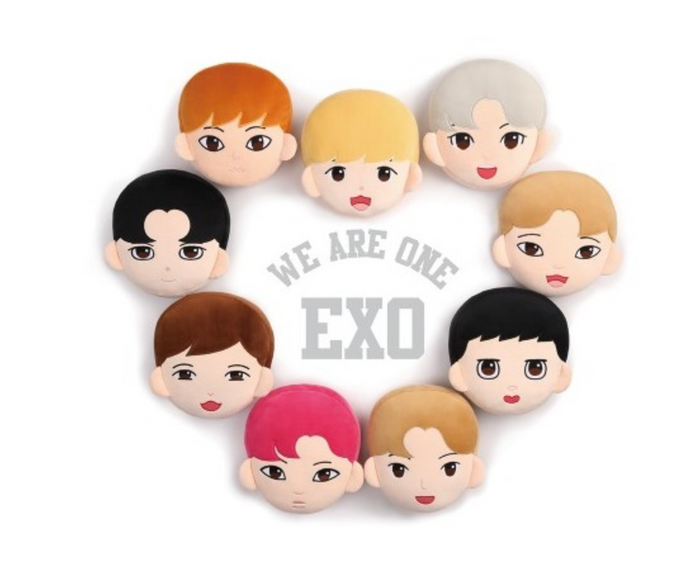 EXO Official Goods - CHARACTER CUSHION + 1 PHOTOCARD